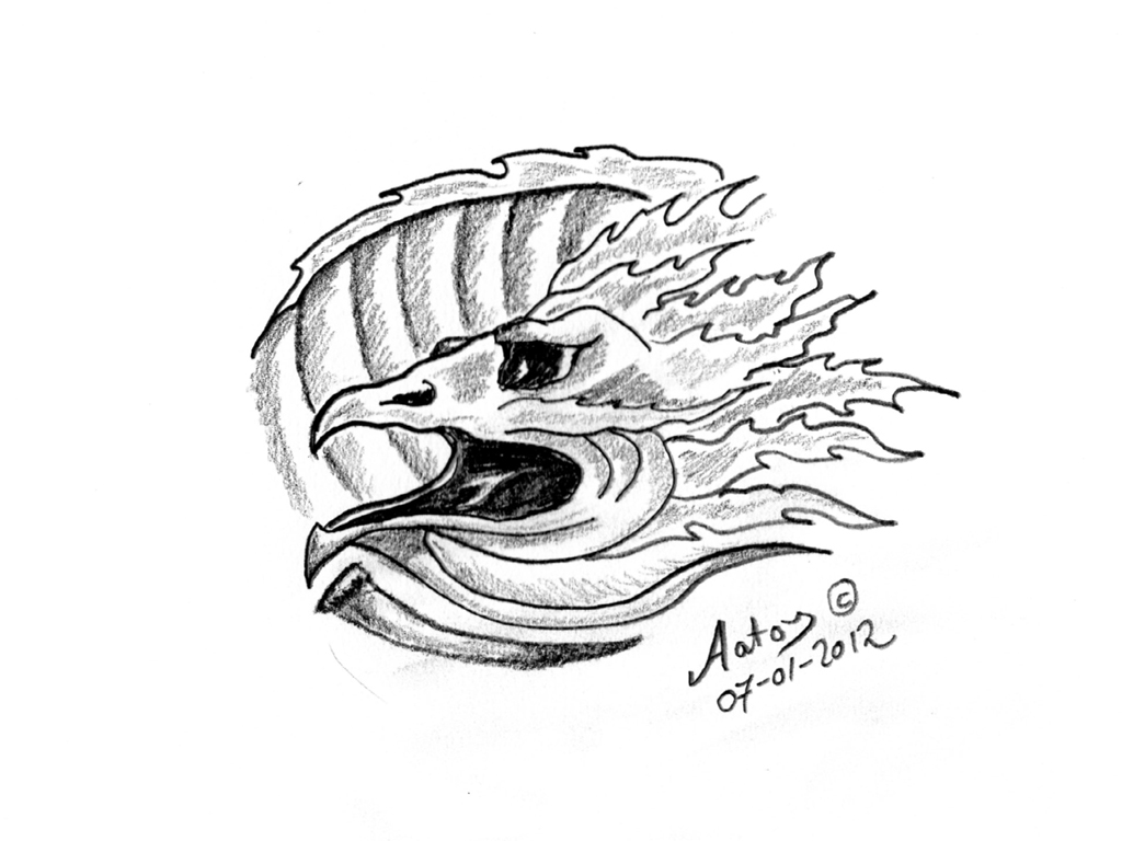 Tattoo design In the Claws of a Dragon by Aatos Beck © 07-01-2012001